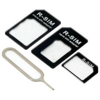 Univerzální adaptér pro NanoSIM karty + MicroSIM adaptér + nástroj pro vyjmutí šuplíku