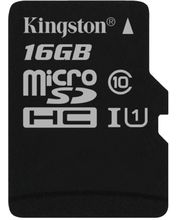 Kingston microSDHC 16GB Class 10/UHS-I, zápis 10MB/s + SD adaptér